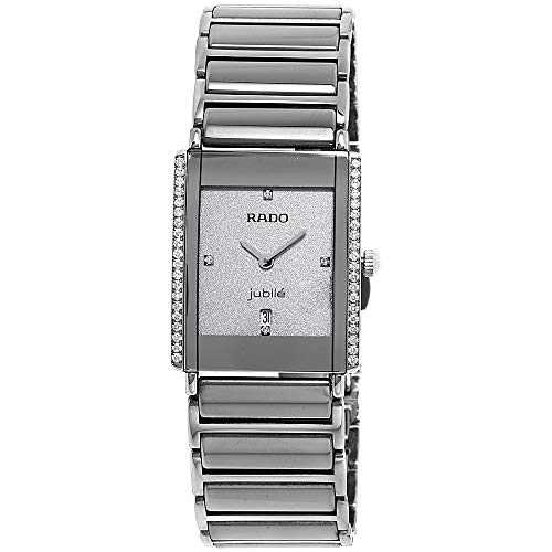 (Rado Integral Jubile Silver Dial Ceramic Ladies Watch R20429722)