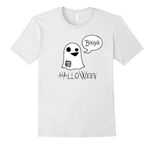 Mens Cute Ghost Booyah Popular Halloween Costume Idea Medium (Cute Unique Halloween Costume Ideas)