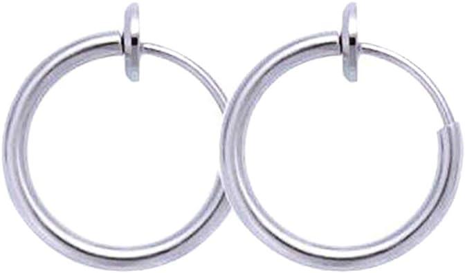 Boucles doreilles r/étractables pas besoin de piercing classique Hip-hop Style boucles doreilles pour femmes hommes fille