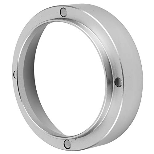 Coffee Accessories Durable Dosing Ring Replacement, Magnetic Aluminum Lightweight Dosing Ring, Silver for(Silver, 53MM…