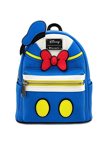 Loungefly x Disney Donald Duck Mini Backpack (Blue Multi, One Size) ()
