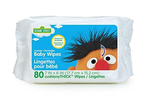 Sesame Street Baby Wipes, 80 Count, White, Large 80 Ct Baby Wipes