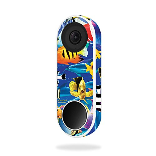 MightySkins Skin Compatible with Nest Hello Video Doorbell - Tropical Fish | Protective, Durable, and Unique Vinyl Decal wrap Cover | Easy to Apply, Remove, and Change Styles | Made in The USA