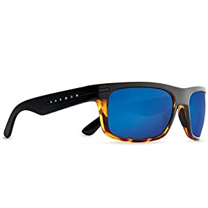 Kaenon Adult Burnet Sunglasses Matte Black/Tortoise/Pacific Blue Mirror, OS