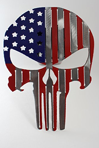 Punisher Flag Trailer Hitch Cover USA by Turpins Horseshoe Creations