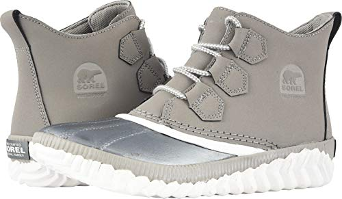 About Plus Boots Chrome Grey Leather/Metallic Shell Combination 8.5 B(M) US ()