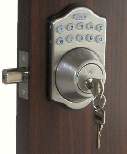 E-910-R-SN Electronic Deadbolt by Lockey USA