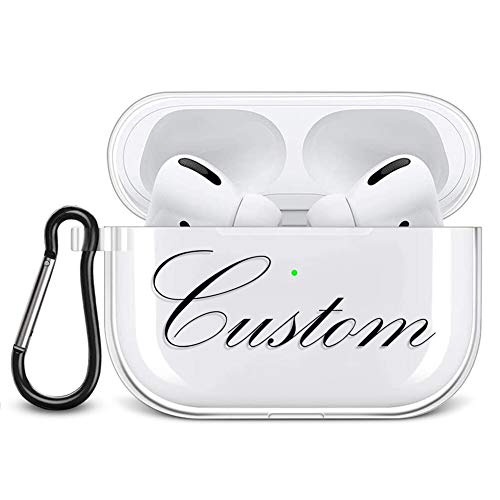 Pnakqil Personalized AirPods Pro Case Cover Clear Silicone Custom Name Design Transparent Shockproof Soft TPU Protective…