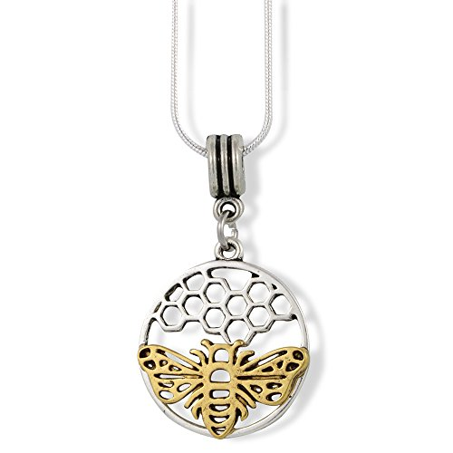 Bee Jewelry Bee Necklace Pendant Gifts for Women Men Girls Boys Kids Honeycomb Jewellery Accessories Decor Bumblebee Honey