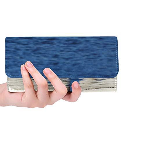 Unique Custom Swans Couple Love Images Water Lake Women Trifold Wallet Long Purse Credit Card Holder Case Handbag by VNASKL