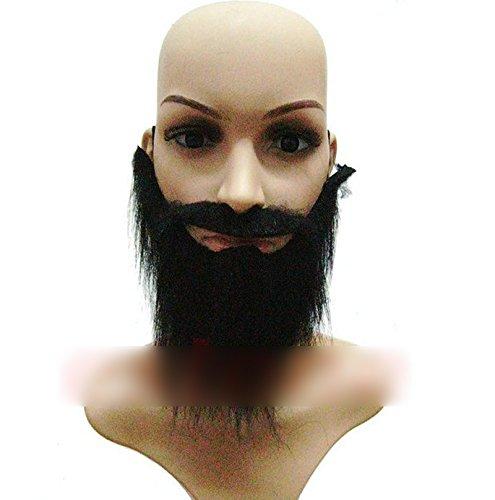 [Funny Costume Fancy Party Halloween Fake Beard Moustache Mustache Facial Hair] (Moustache Halloween)