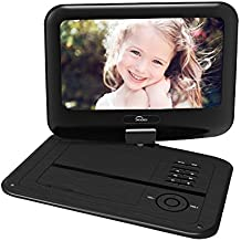 Senders 9.5 Inch Portable DVD Player with Swivel Screen,Multimedia Portable Video Player Built in Rechargeable Battery,SD Card Slot and USB Port – Black