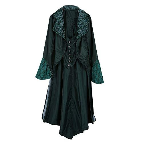 AOJIAN Women Jacket Long Sleeve Outwear Vintage Steampunk Button Floral Casual Dress Medieval Cosplay Coat