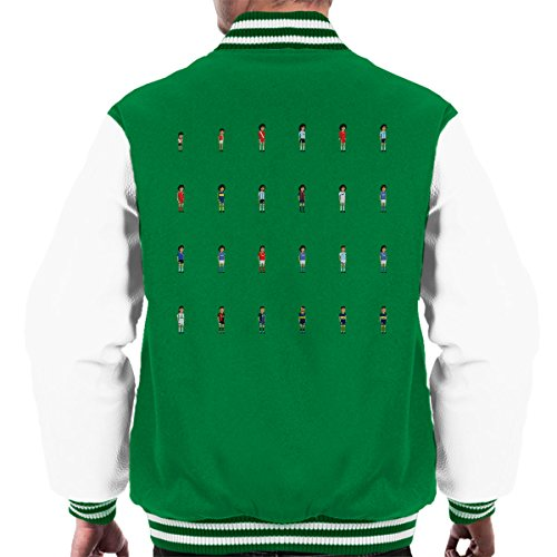 Picture Varsity Kelly Pixel white Jacket Men's Cuadro Maradona BwY5xqA5