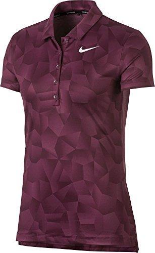 Nike Dry Short Sleeves Ho Seasonal Golf Polo 2017 Women Tea Berry/Bordeaux/White Small ()