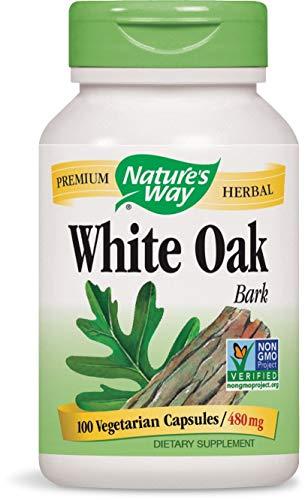 (Nature's Way White Oak Bark , 480 milligrams, 100 Vegetarian Capsules (Pack of 2)