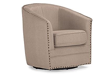 Enjoyable Amazon Com Classic Retro Swivel Tub Chair In Beige Fabric Camellatalisay Diy Chair Ideas Camellatalisaycom