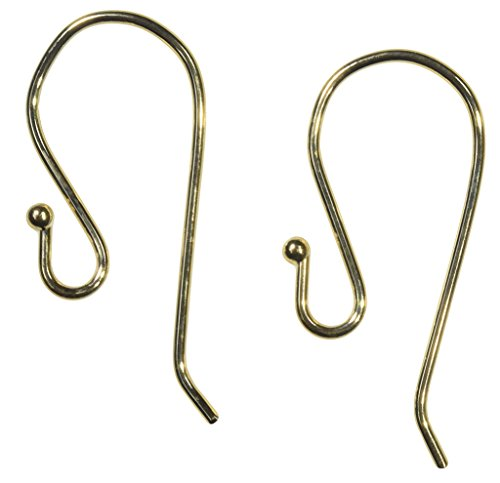 18k Yellow Gold Earwires .028