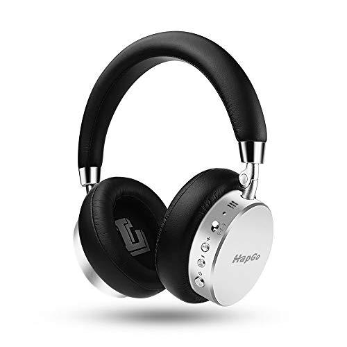 ZXC Active Noise Canceling Headphones Wireless Bluetooth Sports Music Headphones Universal Headband Stereo Retractable Headphones,Silver