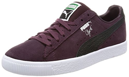 Puma Clyde B & C Violet Daim Unisexe Sneakers Chaussures neuf Violet