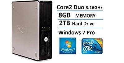2016 Dell Optiplex 780 SFF Desktop Business Computer PC (Intel Dual-Core 3.16GHz, 8GB DDR3 Memory, 2TB HDD, DVD, Windows 7 Pro 64 Bit) (Certified Refurbished)