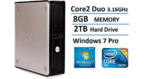 2016 Dell Optiplex 780 SFF Desktop Business Computer PC (Intel Dual-Core 3.16GHz, 8GB DDR3 Memory, 2TB HDD, DVD, Windows 7 Pro 64 Bit) (Certified Refurbished) (Dell Refurbished Desktop)