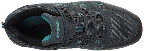 Northside Women's Monroe Low Hiking Shoe, Dk Gray/Dk Turquoise, 8.5 B US Dark Gray/Dark Turquoise