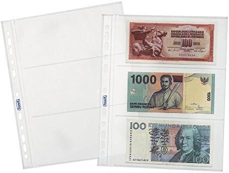 X3 Confezione da 25 Pz. Finitura Liscia Favorit 100460127 Busta a Foratura Universale Porta Banconote Spessore Top Formato Interno 18X8
