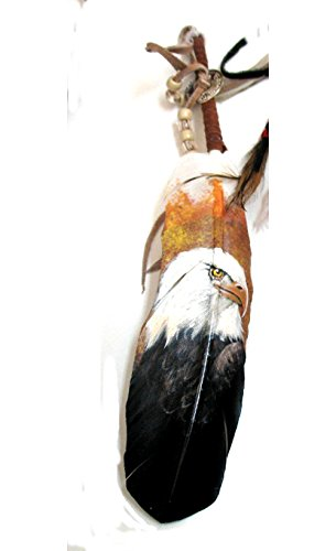 Large Feather with Painted Eagle By Jose Carmelo Canales by Roger Enterprises