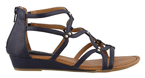 Women's Eurosoft, Mekelle Low Heel Gladiator Style Sandals Navy 9.5 M (Blue Sofft Shoes)