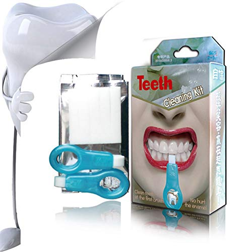 Natural Teeth Whitener Kit,Taykoo Pro Nano Teeth Whitening System Tool(2 clean toothbrush + 5 nano-clean bars)