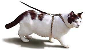 Smartcat Non-Pinching Cat Harness and Leash Green