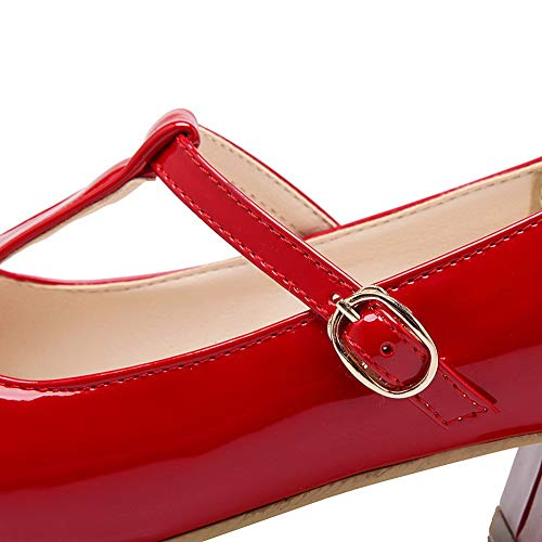 Red Femme Sandales 36 Compensées SDC05614 5 Rouge AdeeSu zaqgOw