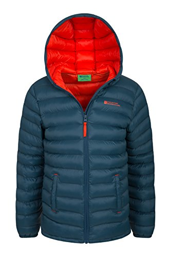 Jacket Cuffs Boys Summer 2 Elastic Jacket Lightweight Resistant for Travelling amp; Pockets Rain Coat Kids Water Casual Petrol Warehouse Seasons Jacket Front Padded Mountain qPwIO