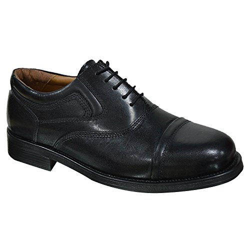 Scarpe Da Lavoro Oaktrak Pinham Black, Brown O Castagnia Brogue Oxford Work, Black - Black Stone Bridge - Size: 40
