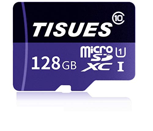 TISUES 128 Micro SD SDXC Card HIGH Speed Class 10 with SD Adapter by TISUES