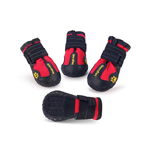 c89dbf8b77ead V-Hao Adjustable Velcro Dog Boots Anti-Slip Breathable Pet Booties for  Large Dogs Paw Protectors Water-Proof Dog Shoes