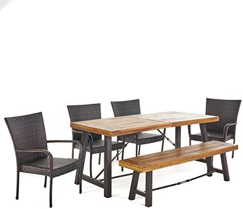 Christopher Knight Home Salla Outdoor Acacia Wood Dining Set