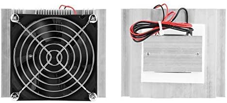 Nobrand 12V DIY Semiconductor Cooler Thermoelectric Cooler Cold Plate Peltier with Fan Cooling Device Conditioner Module