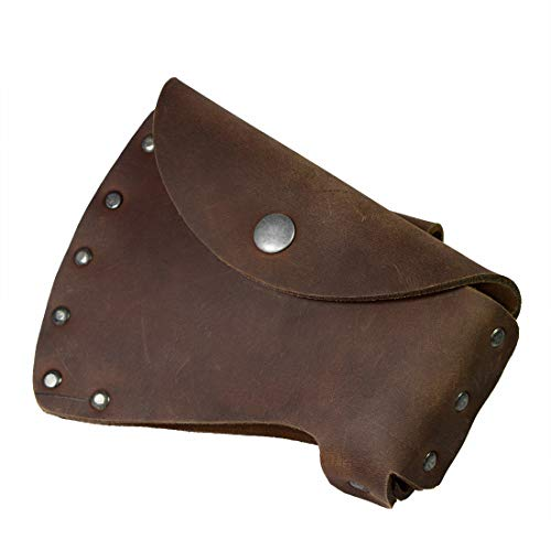 Hide & Drink, Durable Leather Hatchet Head Sheath/Axe Case/Blade Cover/Lumberjack Essentials, Handmade :: Bourbon - Axes Collins
