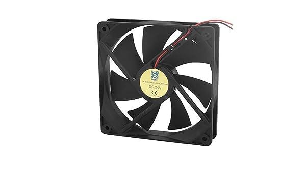 Amazon.com: eDealMax a16031000ux0845 DC24V 120 mm x 120 mm x 25 mm sin escobillas 7 paletas de refrigeración refrigerador de la caja del Motor del ...