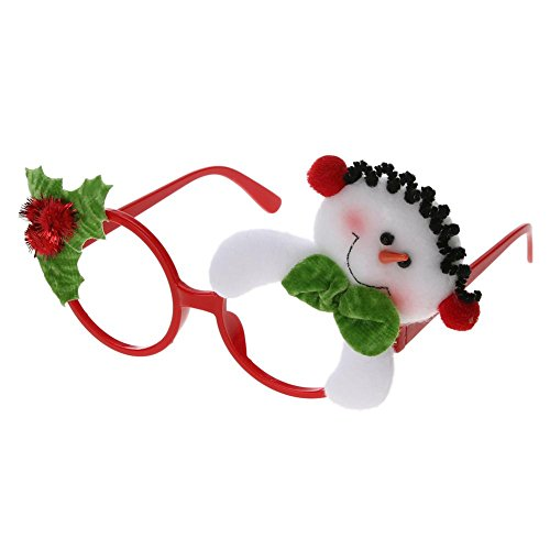 Whitelotous Christmas Sunglass Eyeglass Costume Eye Frame Party Decor - On Measurements Frame Eyeglasses
