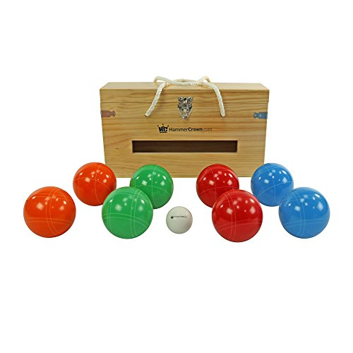 (Hammer Crown Premium Bocce Ball Set in Wooden Box)
