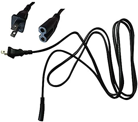HP 3-Feet. {UL LISTED} 2- Slot Printer Power Cord Cable Lexmark Brother Epson Dell Printer And Many Other Printers 2 Prong Compatible with Canon PIXMA
