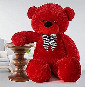 Mrbear Lovable/Spongy 7 Feet Large Cute Teddy Bear for Kids & Girls Special Gift for (Red)