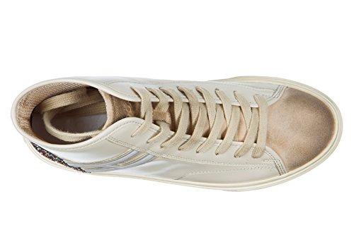 Hogan Damer Sko Kvinders Sko Høje Sneakers Hvid H342 PnfbU