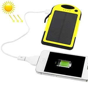 5000mAh Waterproof / Shockproof / Dropproof Emergency Power Solar Charger for iPhone / Samsung Galaxy / Sony / HTC / LG and other Mobile Phones, iPod touch 5th, iPod nano 7, iPhone 5, iPhone 4S, iPhone4(CDMA), iPhone 4, iPhone 3G S, iPod touch 2, iPh