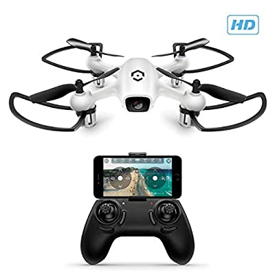 Amcrest A4-W Skyview WiFi FPV Drone Quadcopter w/Camera HD 720P, Training Drone for Beginner & Kids, RC + 2.4ghz WiFi Helicopter w/Remote Control, Headless Mode, Smartphone Control from Amcrest