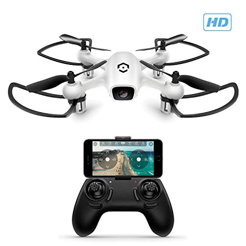 Amcrest A4-W Skyview WiFi FPV Drone Quadcopter w/Camera HD 720P, Training Drone Beginner & Kids, RC + 2.4ghz WiFi Helicopter w/Remote Control, Headless Mode, Smartphone Control (White)