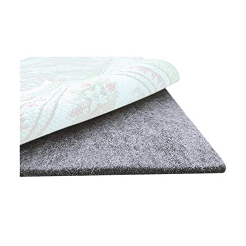 Mockins 6×9′ Felt Rubber Non Slip Rug Pad – 1/4″ Thick Felted Rug Pads – Rug Grippers for Area Rugs are Easy to Cut to Size and Protects Hardwood Floors